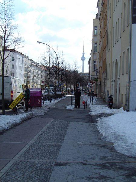 panorama da Bernauer Strasse senza muro