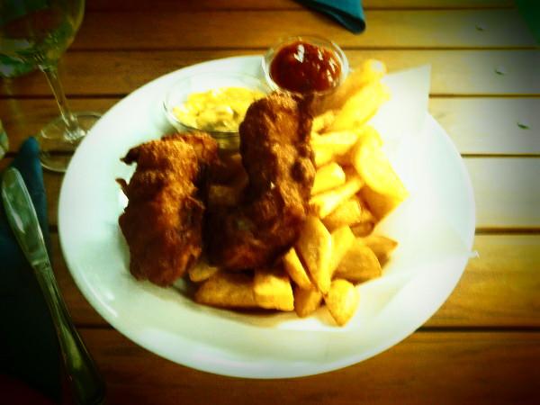"""Fish and chips """"alla romana"""""""