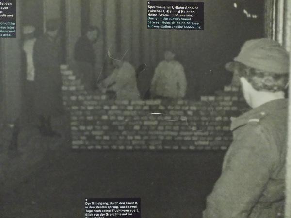 muro all'interno della metropolitana