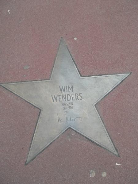 Walk of fame - Wim Wenders