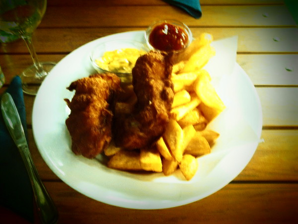 "Fish and chips ""alla romana"""